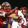 11-6-15<br /> Kokomo football sectional win<br /> DaShaun Barbary takes down Huntington North's Parker Thompson<br /> Kelly Lafferty Gerber | Kokomo Tribune