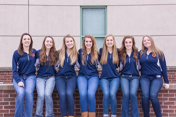2015 Aquinas Girls Basketball Seniors