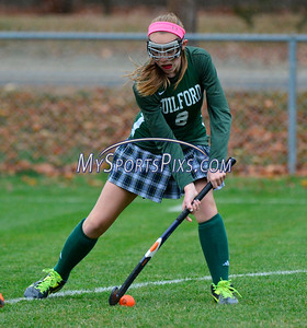 11/10/2015 Mike Orazzi | Staff Gilford High School's Bryce Makula (8) during the Class M First Round of the CIAC 2015 State Field Hockey Tournament with Avon High School in Avon on Tuesday.
