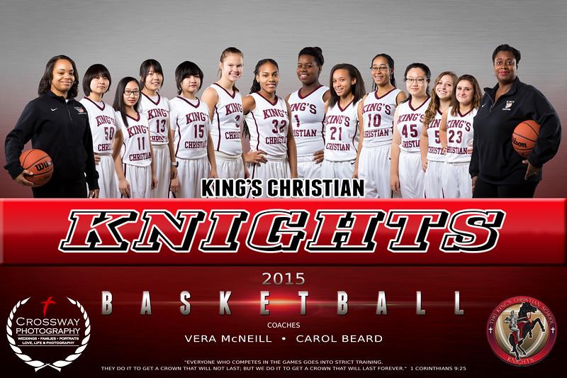 Kings Christian Girls Varsity Basketball Team Photo