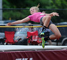 7/11/2015 Mike Orazzi | Staff<br /> Emma Cook competes in the high jump at the Nutmeg State Games at Veteran's Memorial Stadium, Willowbrook Park in New Britain on Saturday morning.