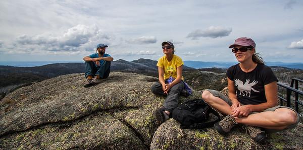 Enjoying the view from Mt Dunn, Mount Buffalo