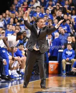 Kentucky head coach, John Calipari directs the Wildcats on Saturday against Florida.  MARTY CONLEY/ FOR THE DAILY INDEPENDENT