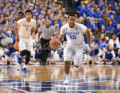 Isaiah Briscoe of Kentucky leads a fast break against Florida on Saturday at Rupp Arena.  MARTY CONLEY/ FOR THE DAILY INDEPENDENT