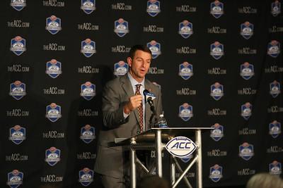 2016 ACC Championship Pre-Game Press Conference