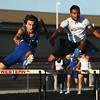 4-12-16<br /> Kokomo, Western, Tipton track and field meet<br /> Western's Cameron Dessing in the 300 m hurdles.<br /> Kelly Lafferty Gerber | Kokomo Tribune
