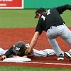 4-19-16<br /> Northwestern vs Western baseball<br /> Northwestern's Trey Richmond tags Western's Jacob Douglass out at third.<br /> Kelly Lafferty Gerber | Kokomo Tribune