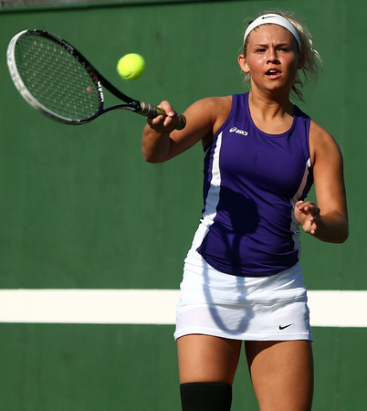 4-14-16<br /> Eastern vs Northwestern girls tennis<br /> Northwestern's 3 singles Morgan Mercer<br /> Kelly Lafferty Gerber   Kokomo Tribune