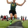 4-26-16<br /> Northwestern Relays<br /> Eastern's Braden Evans in the long jump<br /> Kelly Lafferty Gerber | Kokomo Tribune