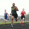4-26-16<br /> Northwestern Relays<br /> Eastern's Dontae Nolder in the sprint medley relay.<br /> Kelly Lafferty Gerber | Kokomo Tribune