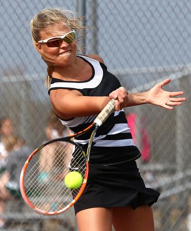4-22-16<br /> Western vs Eastern girls tennis<br /> Western 1 singles Brooke Jansen<br /> Kelly Lafferty Gerber | Kokomo Tribune