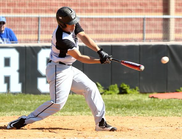 4-16-16<br /> Western vs Tipton baseball<br /> Myles Griffith bats.<br /> Kelly Lafferty Gerber   Kokomo Tribune