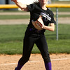 4-13-16<br /> Northwestern vs North Miami softball<br /> Chase Butcher throws to first for an out.<br /> Kelly Lafferty Gerber | Kokomo Tribune