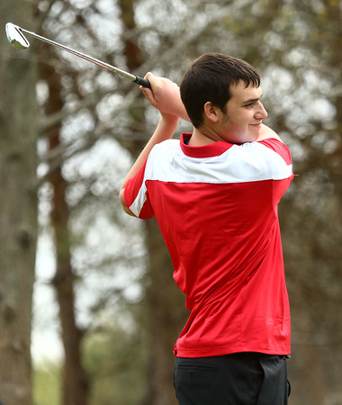 4-20-16<br /> Western vs Taylor boys golf<br /> Taylor 3 Tyler Koon<br /> Kelly Lafferty Gerber   Kokomo Tribune