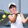 4-22-16<br /> Western vs Eastern girls tennis<br /> Eastern 1 singles Lauren Hickey<br /> Kelly Lafferty Gerber | Kokomo Tribune