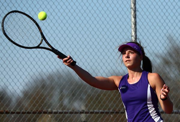 4-14-16<br /> Eastern vs Northwestern girls tennis<br /> Northwestern's 2 singles Allison Miller<br /> Kelly Lafferty Gerber   Kokomo Tribune