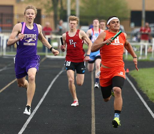 4-26-16<br /> Northwestern Relays<br /> Northwestern's Owen Munson in the sprint medley relay.<br /> Kelly Lafferty Gerber   Kokomo Tribune