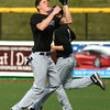 4-19-16<br /> Northwestern vs Western baseball<br /> Northwestern's Quinlan Armstrong makes the catch for an out.<br /> Kelly Lafferty Gerber | Kokomo Tribune