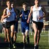 4-12-16<br /> Kokomo, Western, Tipton track and field meet<br /> Western's Josh Everetts leads the pack in the 1600 m run.<br /> Kelly Lafferty Gerber | Kokomo Tribune