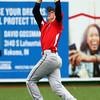 4-20-16<br /> Kokomo vs Logansport baseball<br /> Logansport's Wes Bennett catches the ball for an out.<br /> Kelly Lafferty Gerber | Kokomo Tribune