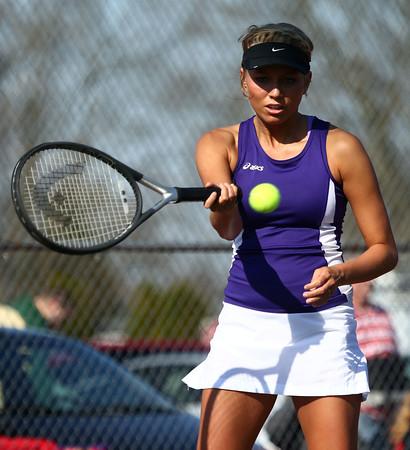 4-14-16<br /> Eastern vs Northwestern girls tennis<br /> Northwestern 1 singles Kristyn Kidwell<br /> Kelly Lafferty Gerber | Kokomo Tribune