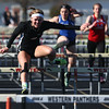 4-12-16<br /> Kokomo, Western, Tipton track and field meet<br /> Western's Elle Rush in the 100 m hurdles.<br /> Kelly Lafferty Gerber | Kokomo Tribune
