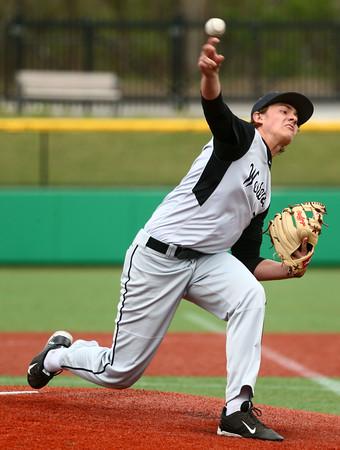 4-19-16<br /> Northwestern vs Western baseball<br /> Western pitcher Brodee Lipinski<br /> Kelly Lafferty Gerber | Kokomo Tribune