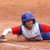 4-27-16<br /> Kokomo softball<br /> Alexis Clark slides safely back to first base.<br /> Kelly Lafferty Gerber | Kokomo Tribune