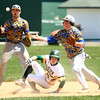 4-23-16<br /> Eastern vs Tri Central baseball<br /> Eastern's Blake Vogl gets to second safely after Tri Central bobbles the ball.<br /> Kelly Lafferty Gerber | Kokomo Tribune