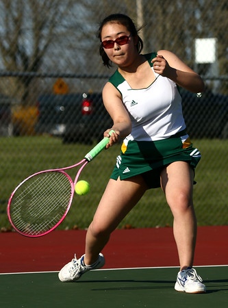 4-14-16<br /> Eastern vs Northwestern girls tennis<br /> Eastern 3 singles Minami Takakuwa<br /> Kelly Lafferty Gerber   Kokomo Tribune