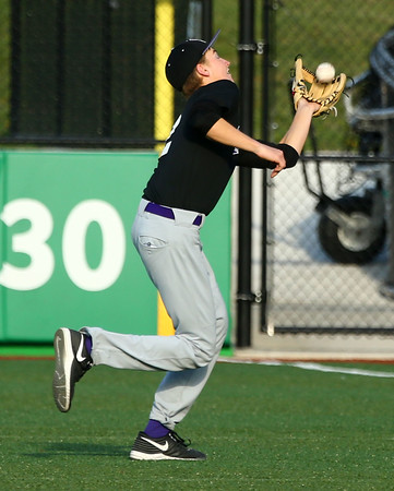4-19-16<br /> Northwestern vs Western baseball<br /> Northwestern's Collin Hodson makes the catch for an out.<br /> Kelly Lafferty Gerber | Kokomo Tribune