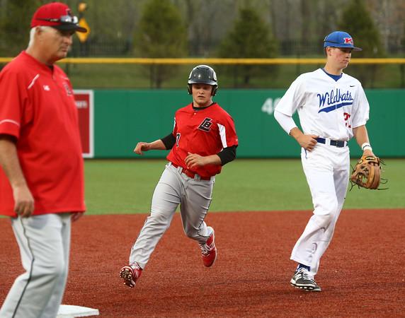 4-20-16<br /> Kokomo vs Logansport baseball<br /> Logansport's Jacob Conrad runs to third.<br /> Kelly Lafferty Gerber   Kokomo Tribune