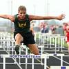 4-26-16<br /> Northwestern Relays<br /> Eastern's Braden Evans in the shuttle hurdle relay<br /> Kelly Lafferty Gerber | Kokomo Tribune