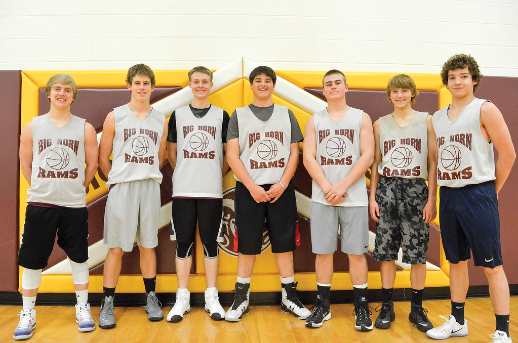 The 2016-17 Big Horn Rams basketball team, from left: Colton Bates, Tanner Warder, Tristen Geist, Wheaton WIlliams, Nolan McCafferty, Robert Watson, Kade Eisele.