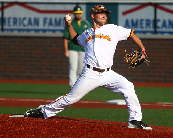 8-3-16 Jackrabbits vs Miners Pitcher Trey Bickel Kelly Lafferty Gerber | Kokomo Tribune