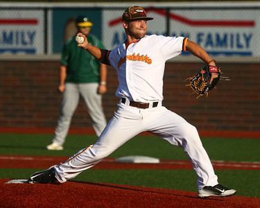 8-7-16 Jackrabbits vs Miners Trey Bickel pitches. Kelly Lafferty Gerber | Kokomo Tribune