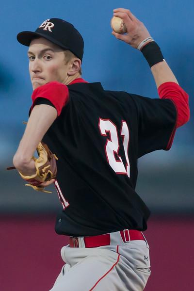 ERHS' Collin Dean pitching