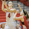 Madison Shifflett goes up for a layup