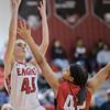 Lexi Dean makes a jump shot against a Riverheads player
