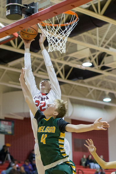 Dalton Jefferson fights Houson Carter for a rebound.