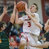 Chris Rogers fights his way to the basket on a layup.
