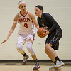 Madison Shifflett guards Lee's Peyton Hicks