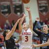 Haley Cave finds her way to the basket.