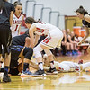 Madison Shifflet slides in to grab a loose ball from Kodie Oscar-Taylor.