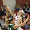 Madison Shifflett drives in over Destiny Ritchie for a shot