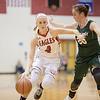 Madison Shifflett cuts around Kailey Landis