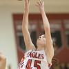 Lexi Dean grabs for a rebound.
