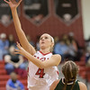 Madison Shifflett gets a shot in over Kelsey Landis