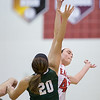 Lexi Dean and Kailey Landis battle for the tip off.