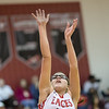 Naomi Gibson goes up for a shot under the basket